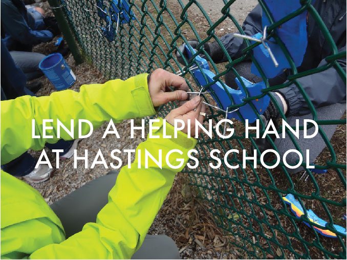 Lend a helping hand at Hastings School